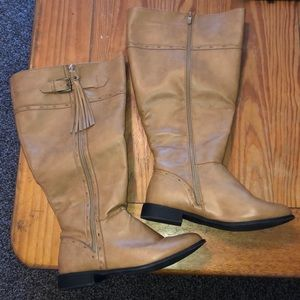 Torrid Tan Perforated Tassel Riding Boots 9 Wide